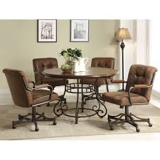 perfect dining room chairs with wheels 26 for small kitchen ideas with dining room chairs with wheels