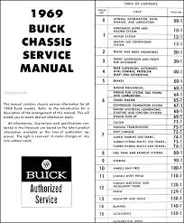 1969 buick repair shop manual original gs skylark riviera lesabre 1924 Buick Starter Wiring Diagram table of contents page Buick Century Wiring-Diagram
