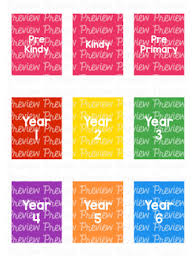 Bundle Year Grade Level Spine Labels Avery A4 L7651