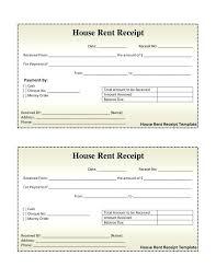 House Rent Payment Receipt Format Rental Payment Receipt 6 Payment