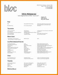 Audition Resume Template Awesome Sample Dance Resume For Audition Luxury Best Audition Resume Dance