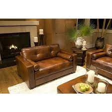 grain leather oversized accent chair