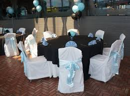 Table Chair Party Rentals And Baby Shower Decorations In Blue