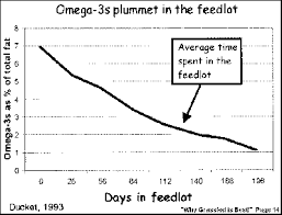 an introduction to grass fed beef and a recommended blood lipid omega 3 chart