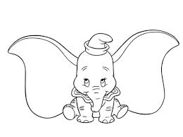 Dumbo Elefantico Con Le Orecchie Grandi Segni Da Colorare Disegni