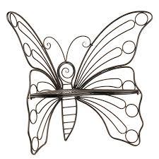 B Black Butterfly Metal Patio Chair  Kirklands