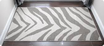 product handcraft rugs animal print zebra skin chocolate brown ivory high pile soft