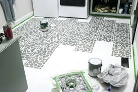 painting floor tile i would do several stencils and take a break to let them dry