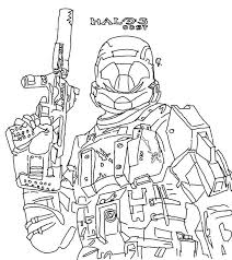 halo coloring pages master chief colouring to print simple