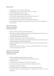 Wimax Engineer Sample Resume