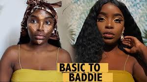 basic to bad makeup transformation dark skin makeup tutorial beauty