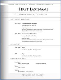 Resume Templates Free Simple Download Resume Templates Word Free