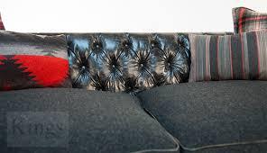 tetrad signature ralph lauren leather on back sofa