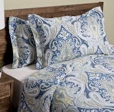 blue paisley duvet cover set king size 3 pc bedding shams 100 cotton