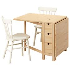 Norden Gateleg Table Norden Norraryd Table And 2 Chairs Birch White 89 Cm Ikea