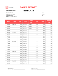 How To Write A Weekly Report Template Sales Report Templates 10 Monthly And Weekly Sales Report