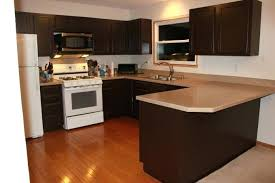 full image for dark costco cabinets with under cabinet lighting and cozy wood flooring for