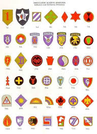 Us Army Patch Chart Us Army Shoulder Sleeve Insignia Of World War Ii 1 Army