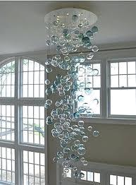 glass bubble chandelier blown uk