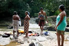 Village girls public place nude bath