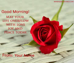 Good Morning Love Quotes For Her Cool Write Name On Good Morning Photo