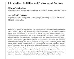 "Identities Journal on Twitter: ""On #migration and #borders: 'Introduction:  Mobilities and enclosures at borders' by Hilary Cunningham & Josiah Heyman:  https://t.co/JwZXxVGHeQ @NasarMeer @jean23bean @aaronzwinter @e_c_hill  @GezimK @Routledge_Socio ..."