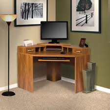 office adaptations corner computer desk with monitor platform