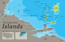 the lake erie islands map on behance