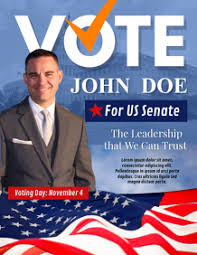 790 Election Flyer Customizable Design Templates Postermywall