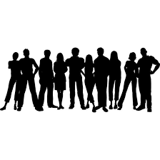 group of people clipart black and white. Exellent People Group Of People Clipart Black And White  Library  Free Intended R