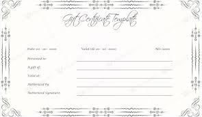 certificate template pages gift certificate templates to appear professional