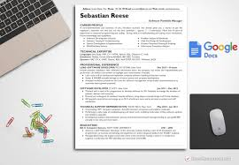 Modern Resume Template Google Docs 032 One Page Resume Templates Template Sebastian Reese