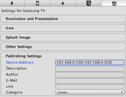 samsung tv types. in the unity menu bar, go to file \u003e build and run, select samsung tv then click run button. this builds your project runs it on all tv types