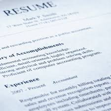 resume templates to career and finance