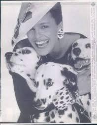 a dog lover 1985 shari belafonte harper with three dalmations in vanity fair