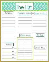 Task List Template Excel Spreadsheet To Do List Weekly Template
