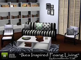 ikea inspired poang living
