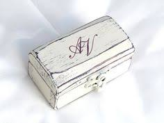 Decorative Ring Boxes Gregolino Engagement ring boxHandcrafted wooden ring box painted 70