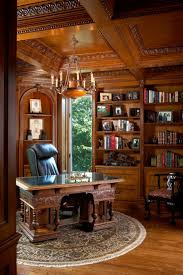 traditional custom home office. Quartersawn White Oak Library Traditional Home Office Custom T