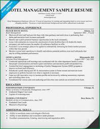 Sample Hotel Manager Resume Hotel Manager Resume Example Rome Fontanacountryinn Com