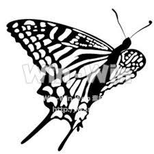 蝶 W 006246 の無料シルエット素材