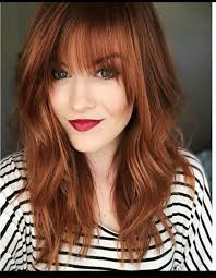 Bold Red With Bangs Love The
