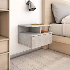 Festnight <b>Floating Nightstands 2</b> pcs Concrete Grey 40x31x27cm ...