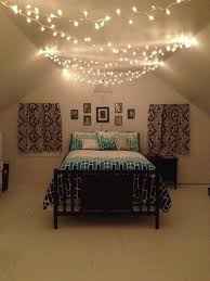 Fairy Lights For Bedroom Awesome Teenage Bedroom Black White And Teal With  Christmas Lights And E