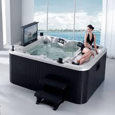 hot tub whirlpool spa bathtub with tv dvd cover step m 3304