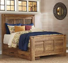 Mansion Bedroom Furniture Signature Design By Ashley Ladimier Queen Mansion Bed With Under