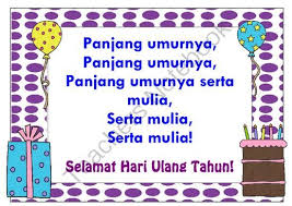 Happy Birthday Song In Bahasa Indonesia Lote Chart