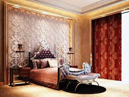 Luxury Bedroom Wallpaper Luxury Bedroom Design Victorian Style With Red Color Curtain With