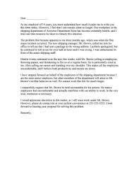 Hostile Work Environment Complaint Letter