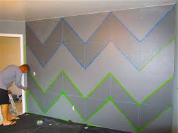 check out this diy guide on how to paint crisp stripes on a textured wall even on knockdown plus draw a grid with chalk lines for perfect chevron